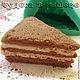 Материалы для косметики ручной работы. Ярмарка Мастеров - ручная работа. Купить Кусок песочного торта, объемная силиконовая форма. Handmade.
