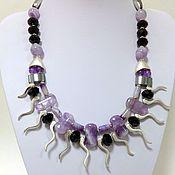 Украшения handmade. Livemaster - original item Necklace beads natural stone eclectic style glamorous a Comet.. Handmade.