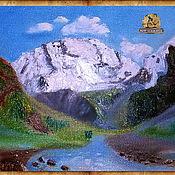 Фен-шуй и эзотерика ручной работы. Ярмарка Мастеров - ручная работа Мать-гора Уллу-Тау картина. Handmade.
