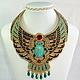 Колье `Египетская богиня`.  Колье в египетском стиле. Изготовление на заказ. Авторская работа Ульяны Молдовян.