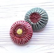 Украшения handmade. Livemaster - original item Ceramic brooches inlaid with colored glass. Handmade.