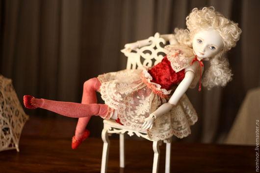 Коллекционные куклы ручной работы. Ярмарка Мастеров - ручная работа. Купить LaceLove. шарнирная кукла. Handmade. Бордовый, для интерьера