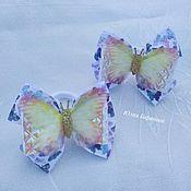 Резинка для волос ручной работы. Ярмарка Мастеров - ручная работа Бабочки, резинки, лёгкие и красивые резиночки, для девочек, стильные. Handmade.