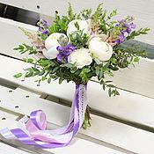 Свадебные букеты ручной работы. Ярмарка Мастеров - ручная работа Букет невесты - Бело-сиреневый. Handmade.