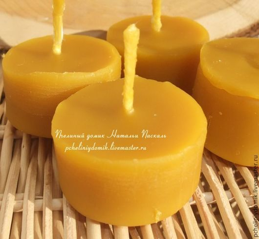 Свечи ручной работы. Ярмарка Мастеров - ручная работа. Купить свеча из пчелиного воска Шайба. Handmade. Свеча из воска