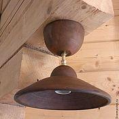 Для дома и интерьера handmade. Livemaster - original item The lamp is ceramic on a short rigid suspension.