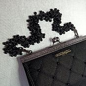 Сумки и аксессуары handmade. Livemaster - original item Clutch with black agate. Handmade.