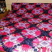 """Для дома и интерьера ручной работы. Ярмарка Мастеров - ручная работа Лоскутное одеяло """"Танго на двоих"""". Handmade."""