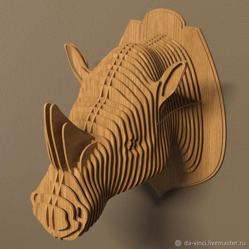 Трофейная голова Носорог, Скульптуры, Нижний Новгород, Фото №1
