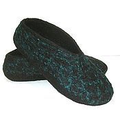 Slippers handmade. Livemaster - original item Felted Slippers for men