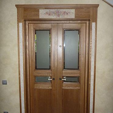Для дома и интерьера ручной работы. Ярмарка Мастеров - ручная работа Роскошная дверь из массива ясеня. Handmade.