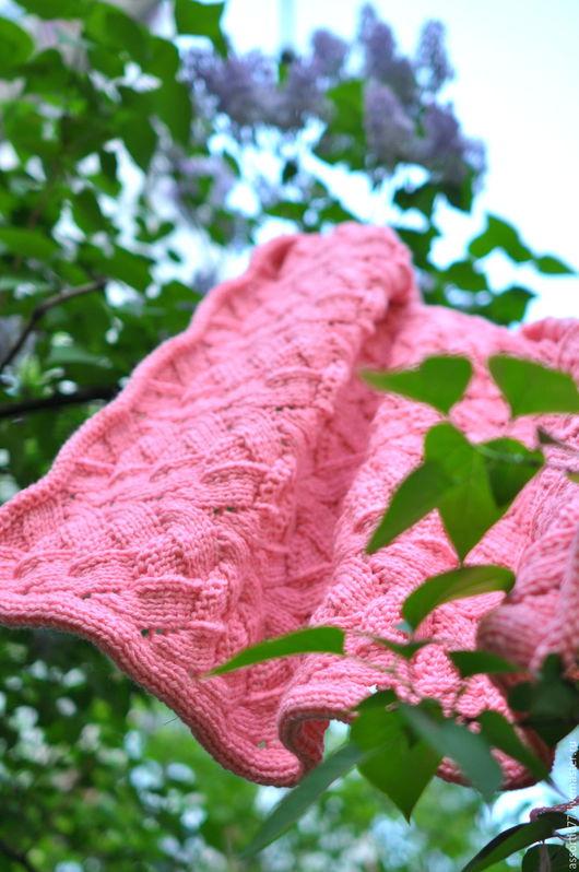 """Пледы и одеяла ручной работы. Ярмарка Мастеров - ручная работа. Купить Пледик """"Детская нежность"""". Handmade. Розовый, плед в коляску"""