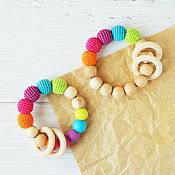Одежда handmade. Livemaster - original item Teethers - gryzunki and wrapped with silicone beads. Handmade.