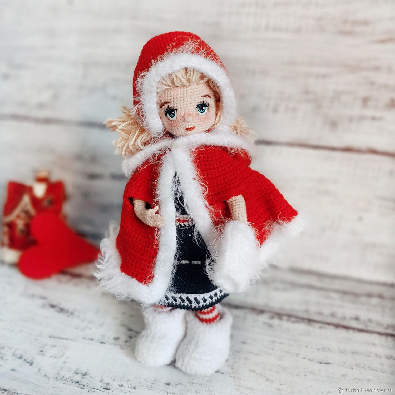 Герда. Вязаная куколка с гардеробом, Куклы и пупсы, Москва,  Фото №1