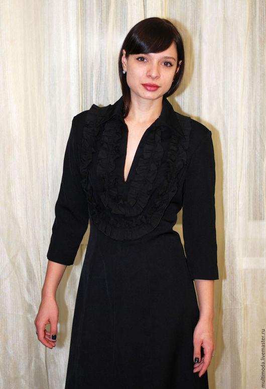 Платья ручной работы. Ярмарка Мастеров - ручная работа. Купить Офисное черное платье. Handmade. Черный, офисная одежда