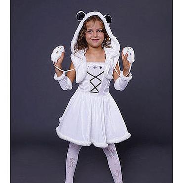 Работы для детей, ручной работы. Ярмарка Мастеров - ручная работа карнавальный костюм белого медведя-64. Handmade.