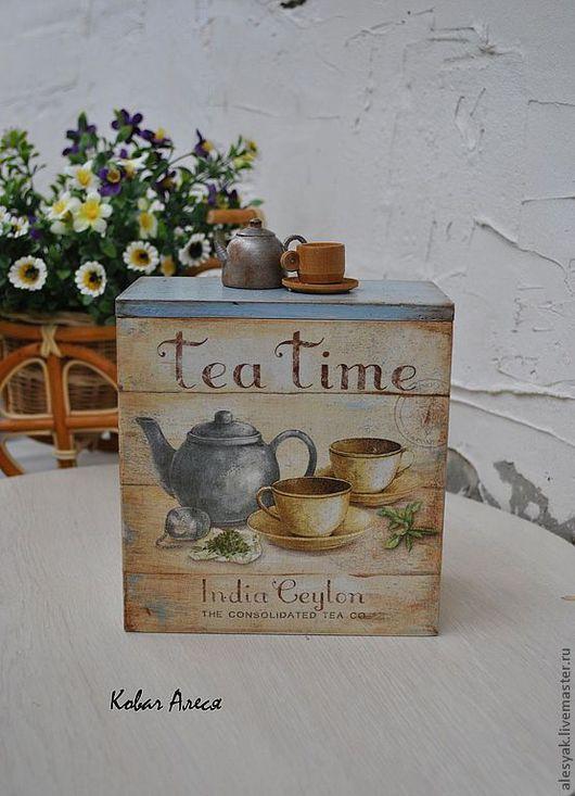 """Кухня ручной работы. Ярмарка Мастеров - ручная работа. Купить Короб """"Tea time"""". Handmade. Бежевый, коробочка, банка для кофе"""