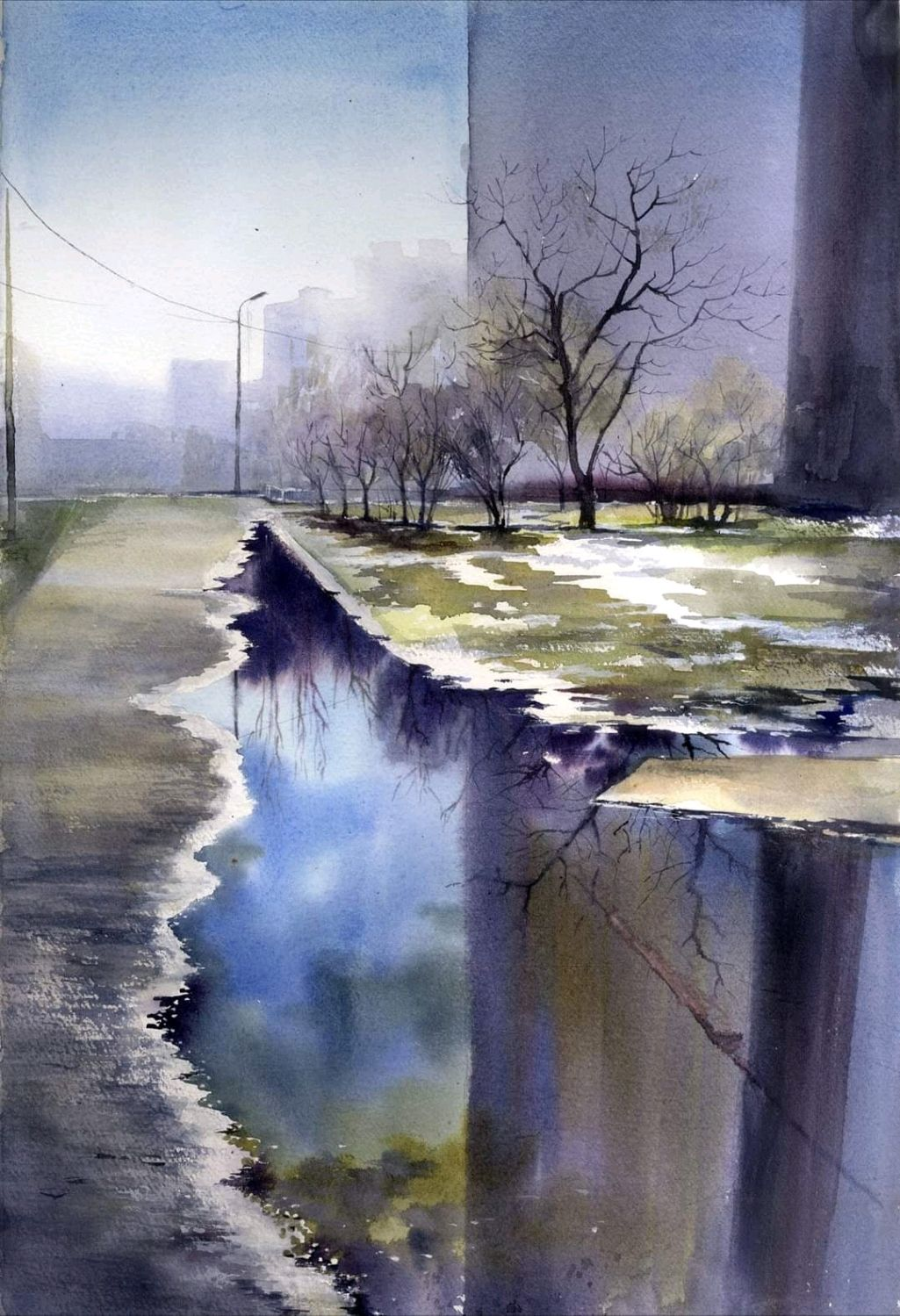"Картина акварелью"" Глубина"", Картины, Киев,  Фото №1"