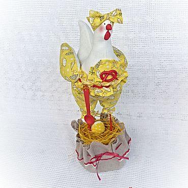 """Куклы и игрушки ручной работы. Ярмарка Мастеров - ручная работа Пасхальная курочка в горшочке """"Зонтик"""" Курочка Тильда Желтая. Handmade."""
