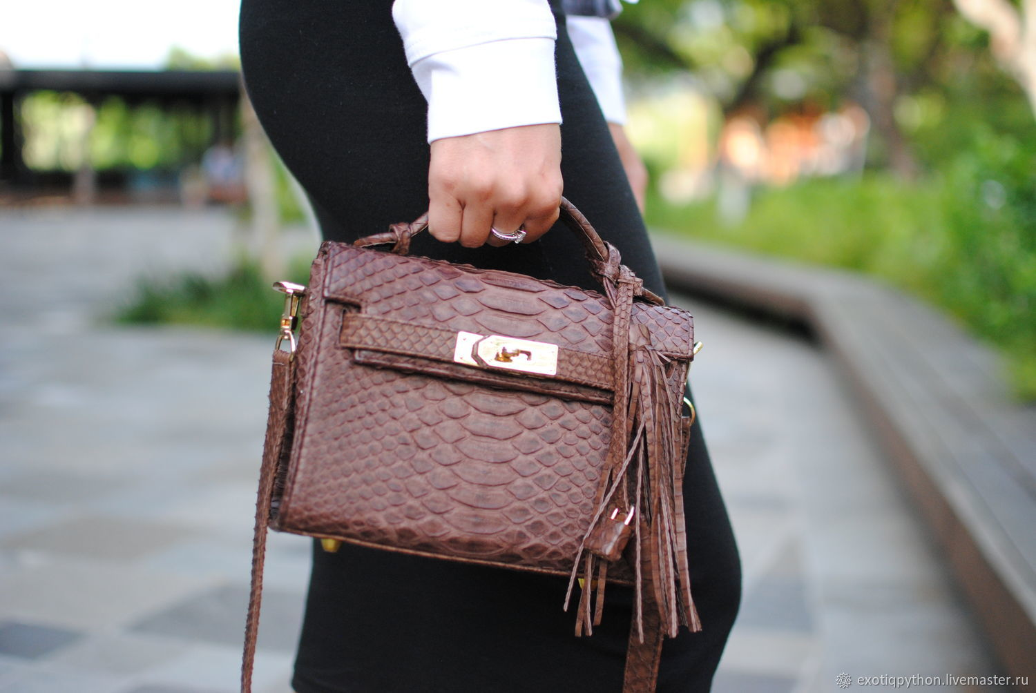 Bag made of Python leather Baby Kelly, Classic Bag, Moscow,  Фото №1
