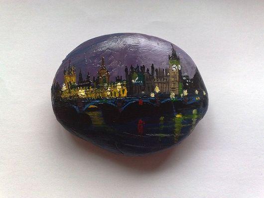 Роспись по камню ручной работы. Ярмарка Мастеров - ручная работа. Купить Лондон. Handmade. Камень, лондон, подарок, сувениры и подарки