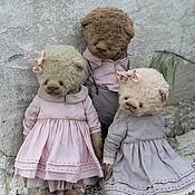 Куклы и игрушки ручной работы. Ярмарка Мастеров - ручная работа Мишки. Handmade.