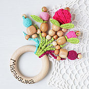 Одежда handmade. Livemaster - original item Personalized teether-ring - the first toy berry. Handmade.