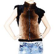 Одежда handmade. Livemaster - original item Vest from beaver and sheepskin. Handmade.