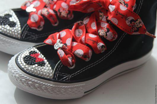 Детская обувь ручной работы. Ярмарка Мастеров - ручная работа. Купить Микки и Минни. Handmade. Черный, минни маус