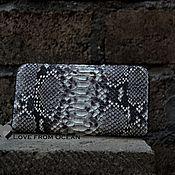 Кошельки ручной работы. Ярмарка Мастеров - ручная работа Кошелёк портмоне кожаный из питона. Handmade.