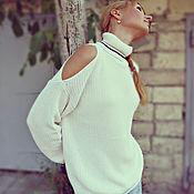 """Одежда ручной работы. Ярмарка Мастеров - ручная работа Вязаный свитер """"Тополиный пух"""". Handmade."""
