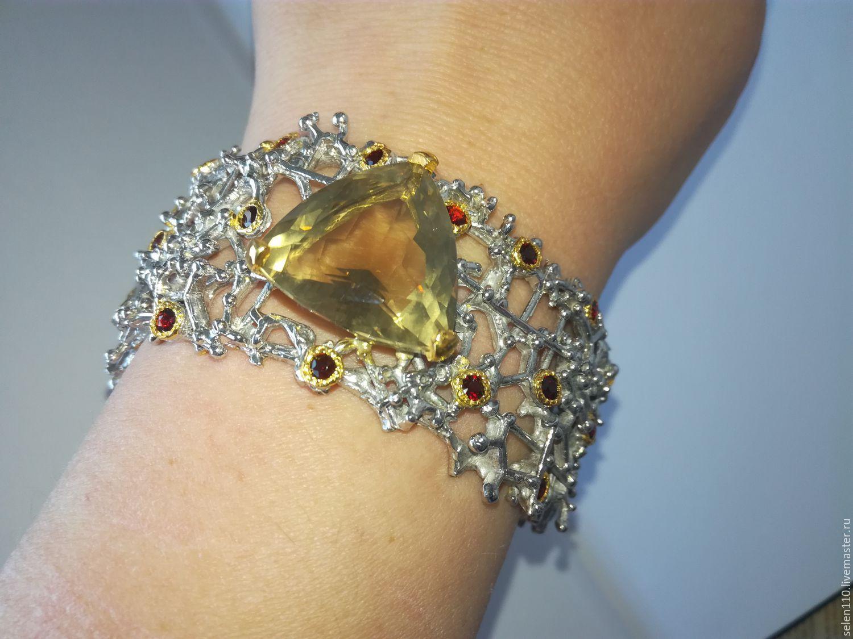 Bracelet 'Daiquiri' with citrine and garnets, Bead bracelet, Voronezh,  Фото №1