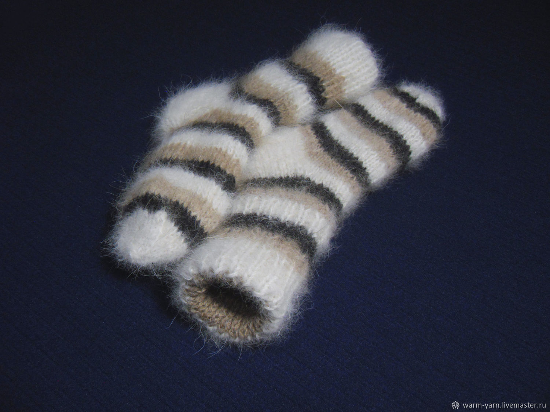 Children's knitted double socks, Socks, Klin,  Фото №1