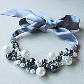 Украшения handmade. Livemaster - original item Noble gray necklace pearl. Handmade.