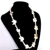 Украшения handmade. Livemaster - original item Necklace made of natural cream Baroque pearls. Handmade.