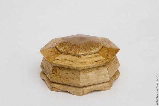 Шкатулки ручной работы. Ярмарка Мастеров - ручная работа. Купить Шкатулка с двойной крышкой из карельской березы. Handmade. Бежевый, деревянный