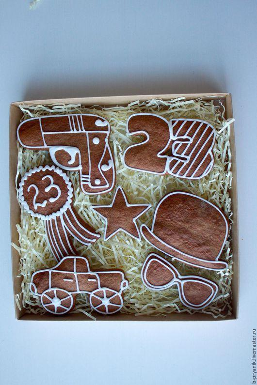 Кулинарные сувениры ручной работы. Ярмарка Мастеров - ручная работа. Купить Пряничный набор на 23 февраля для мужчины #13. Handmade.