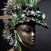 Одежда ручной работы. Ярмарка Мастеров - ручная работа Шлем. Зеленый.. Handmade.