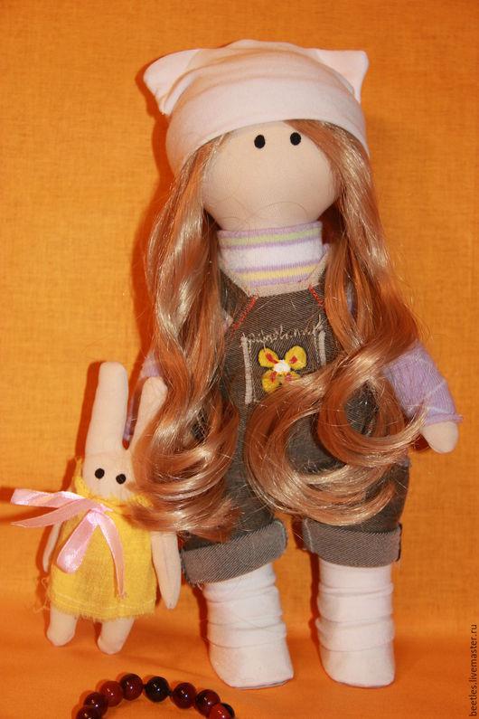 Куклы тыквоголовки ручной работы. Ярмарка Мастеров - ручная работа. Купить Сонечка. Handmade. Игрушка, кукла интерьерная, кукла из ткани