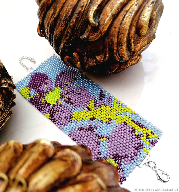 Bracelet of big beads: Flowers...flowers, Bead bracelet, Sevastopol,  Фото №1