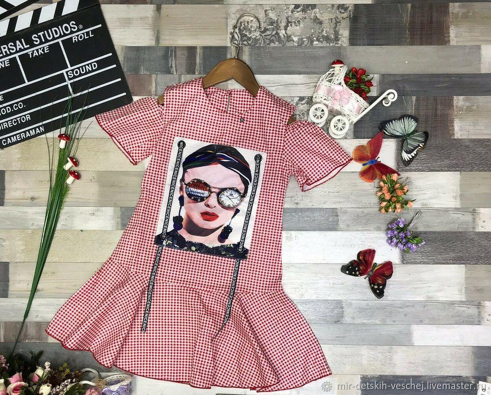 Одежда для девочек, ручной работы. Ярмарка Мастеров - ручная работа. Купить Легкое летнее платьице. Handmade. Для девочки, платье для