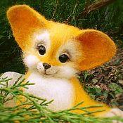 Куклы и игрушки handmade. Livemaster - original item Fox Ginger. fulled (felted) wool.. Handmade.