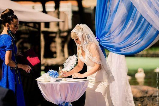 Свадебные аксессуары ручной работы. Ярмарка Мастеров - ручная работа. Купить набор для регистрации брака(выездной регистрации). Handmade. Свадьба