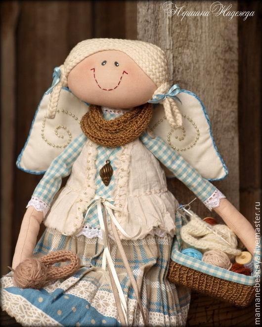 Коллекционные куклы ручной работы. Ярмарка Мастеров - ручная работа. Купить Фея шерстяных клубочков. Ангел вязальщиц и рукодельниц.. Handmade.