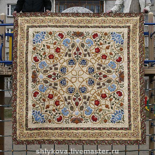 """Текстиль, ковры ручной работы. Ярмарка Мастеров - ручная работа. Купить """"Магия Морриса"""". Handmade. Лоскутное покрывало, пэчворк"""