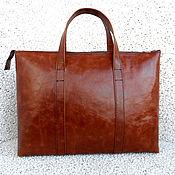 Сумки и аксессуары ручной работы. Ярмарка Мастеров - ручная работа BRANDI кожаная повседневная сумка, рыжая сумка. Handmade.