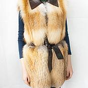 Одежда ручной работы. Ярмарка Мастеров - ручная работа Жилет из рыжей лисы. Handmade.