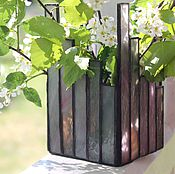 Для дома и интерьера handmade. Livemaster - original item Spring.Candle holder stained glass. Glass. Handmade.