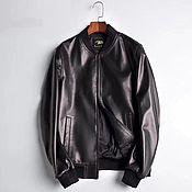 Мужская одежда handmade. Livemaster - original item Men`s jacket, made of genuine calfskin, in black color!. Handmade.