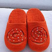 """Обувь ручной работы. Ярмарка Мастеров - ручная работа Тапочки """"Солнцеворот!"""". Handmade."""